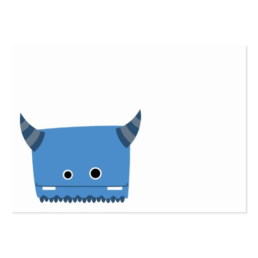 Blue Horned Monster Business Card