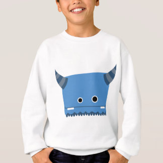 Blue Horned Monster Sweatshirt