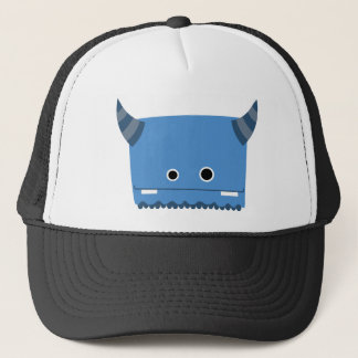 Blue Horned Monster Trucker Hat