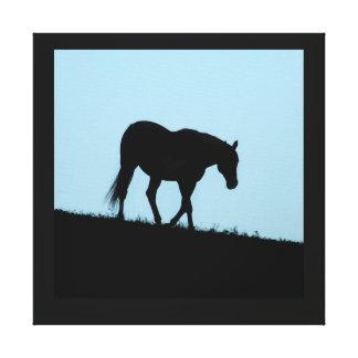 Blue Horse 1 Gallery Wrap Canvas