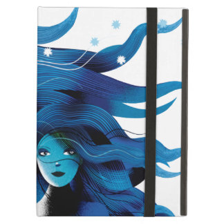 Blue Horse and a Girl iPad Air Stand iPad Air Cover