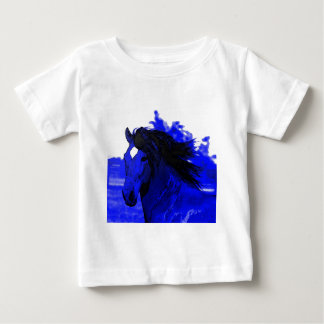 Blue Horse Baby T-Shirt