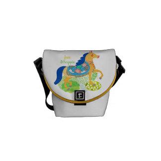 Blue horse bag by ORDesigns. Messenger Bags