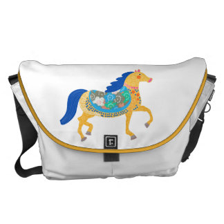 Blue horse Collection Custom All-Over-Print Bag Courier Bags