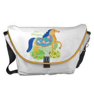 Blue horse Collection Custom All-Over-Print Bag Messenger Bag