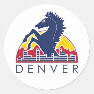 Blue Horse Denver Logo Round Sticker