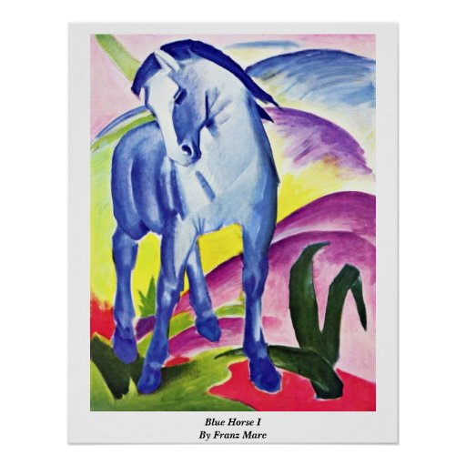 Blue Horse I By Franz Marc Posters