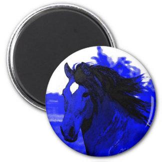 Blue Horse Fridge Magnets
