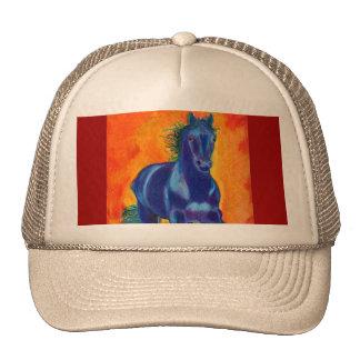 Blue Horse w Orange Cap