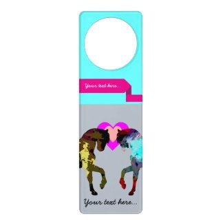 Blue Horses Personalized Door Hanger