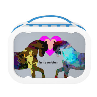 Blue Horses Personalized Lunch Box