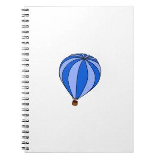 Blue Hot Air Ballon Cartoon Note Book