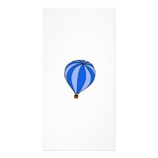 Blue Hot Air Ballon Cartoon Personalized Photo Card