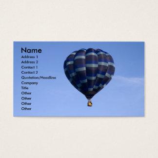 Blue Hot Air Balloon Business Card