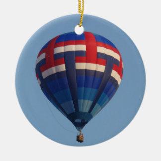 Blue Hot Air Balloon Christmas Ornament