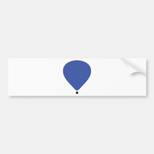 blue hot-air balloon icon bumper sticker