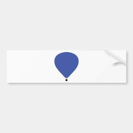 blue hot-air balloon icon bumper sticker