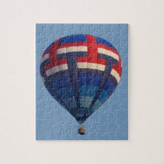 Blue Hot Air Balloon Jigsaw Puzzle