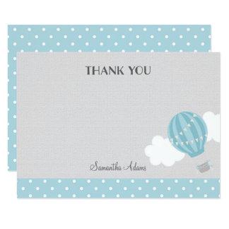Blue Hot Air Balloon Thank You Card