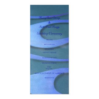 Blue Hotrod flames wedding program 10 Cm X 24 Cm Invitation Card