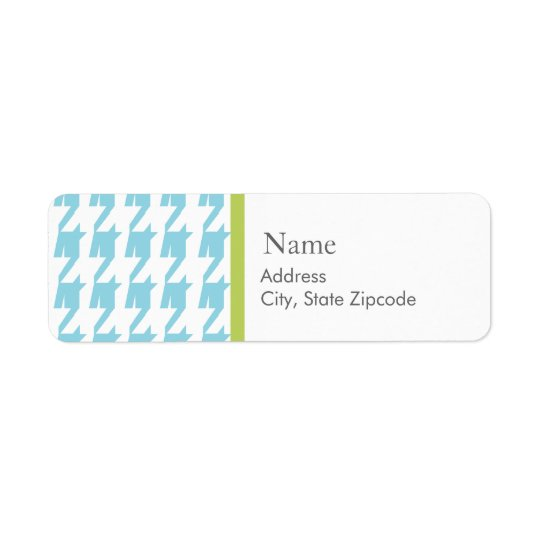 Blue Houndstooth  |  Address Label