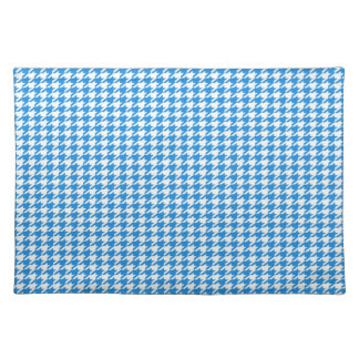 Blue Houndstooth Placemat