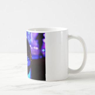 Blue hour through the crystal ball basic white mug