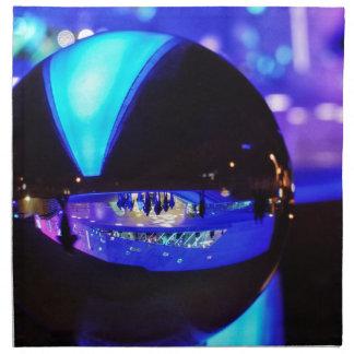 Blue hour through the crystal ball printed napkin