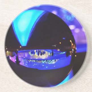 Blue hour through the crystal ball drink coasters