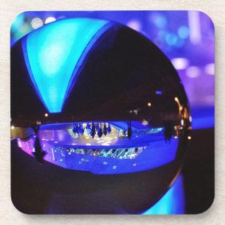 Blue hour through the crystal ball coaster