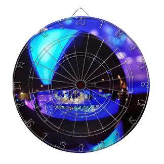 Blue hour through the crystal ball dart board