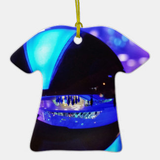 Blue hour through the crystal ball Double-Sided T-Shirt ceramic christmas ornament