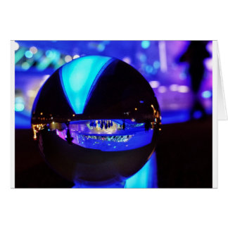Blue hour through the crystal ball greeting card