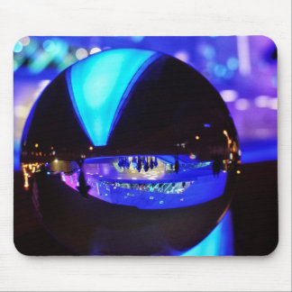 Blue hour through the crystal ball mouse pad