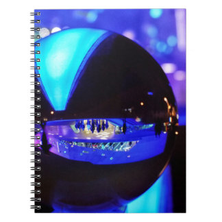 Blue hour through the crystal ball spiral notebooks