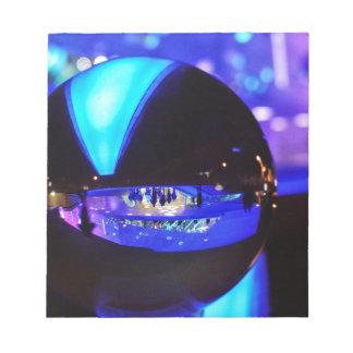 Blue hour through the crystal ball memo pads