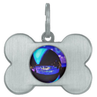 Blue hour through the crystal ball pet ID tag