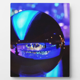 Blue hour through the crystal ball photo plaques