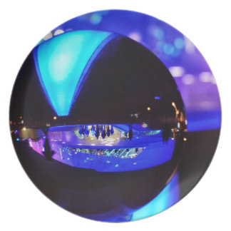 Blue hour through the crystal ball party plate