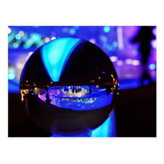 Blue hour through the crystal ball postcard