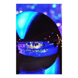 Blue hour through the crystal ball stationery design
