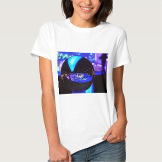 Blue hour through the crystal ball tee shirts