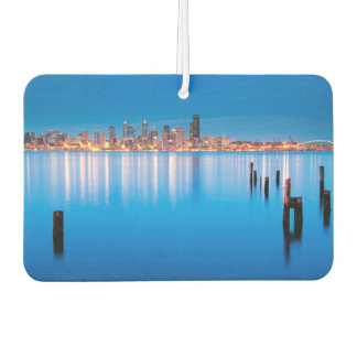 Blue hour view of downtown Seattle Car Air Freshener