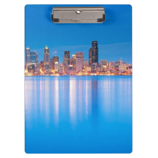 Blue hour view of downtown Seattle Clipboard