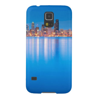 Blue hour view of downtown Seattle Galaxy S5 Cases
