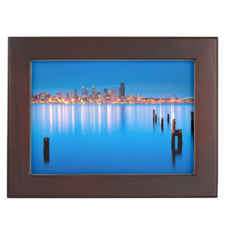 Blue hour view of downtown Seattle Memory Boxes