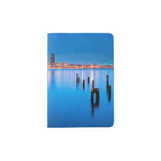Blue hour view of downtown Seattle Passport Holder
