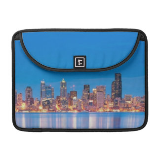 Blue hour view of downtown Seattle Sleeve For MacBooks