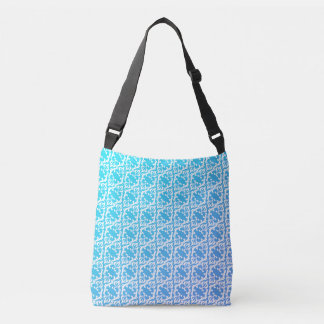 Blue Hue Damask Pattern Tote Bag