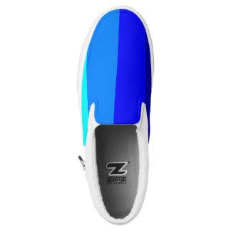 Blue Hues - STRIPES! Unisex Slip On's Printed Shoes